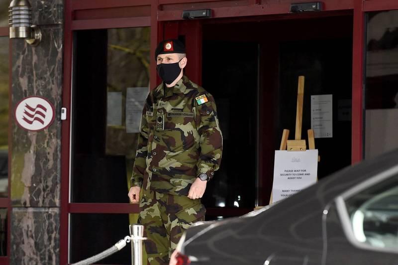愛爾蘭2名媽媽前往杜拜隆乳,但返國後拒絕進入防疫旅館隔離,旋即遭到當局逮捕。愛爾蘭防疫旅館示意圖。(路透)