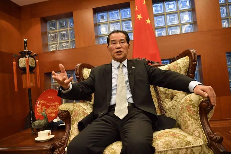 中國駐瑞典大使桂從友。(法新社資料照)