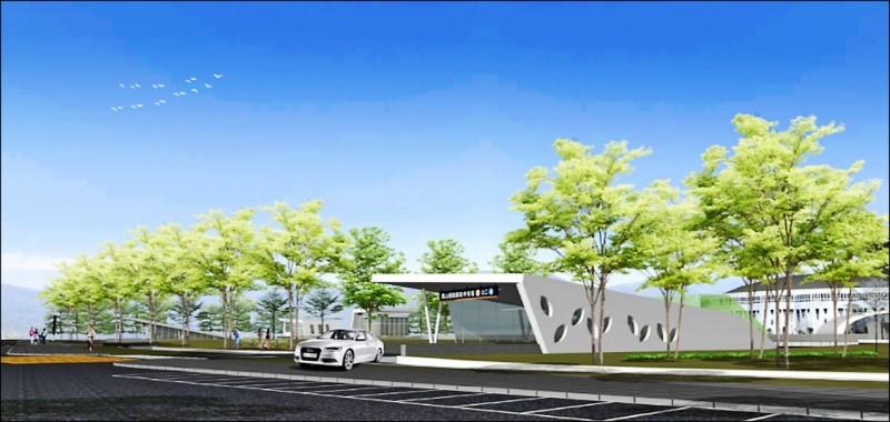 交通局打造鳳山首座公有立體停車場,圖為完工示意圖。 (記者陳文嬋翻攝)