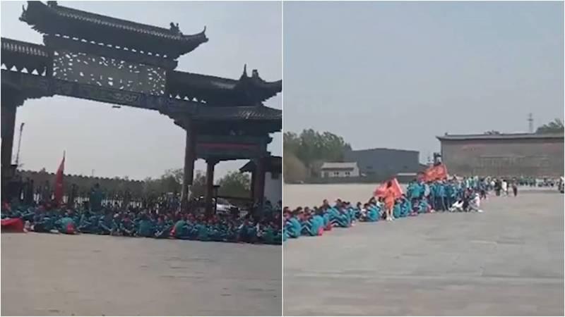 遠足被控亂丟垃圾毀損公物 中國河北逾800學生遭禁錮