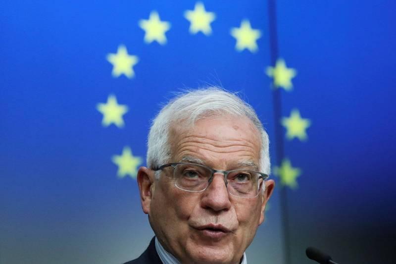 歐盟外交和安全政策高級代表波瑞爾(見圖)批中俄兩國公開表態不制裁緬甸是在阻礙國際對緬軍政府的統一回應。(路透)