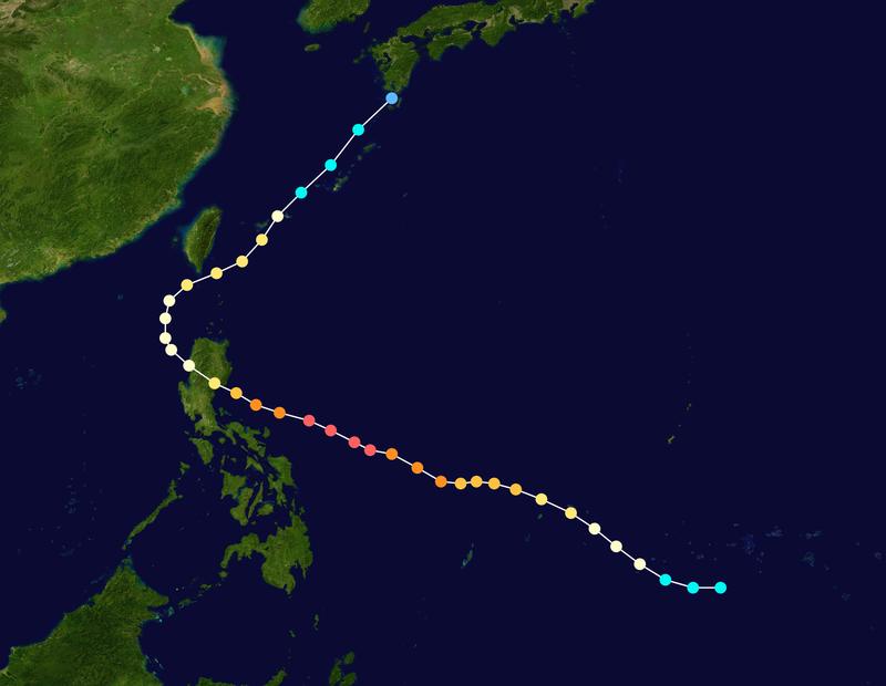 1956年4月「賽洛瑪」颱風通過恆春近海,造成屏東、台東部分災情,成為中央氣象局110年來唯一符合侵台定義的4月颱。(圖擷自Wiki)
