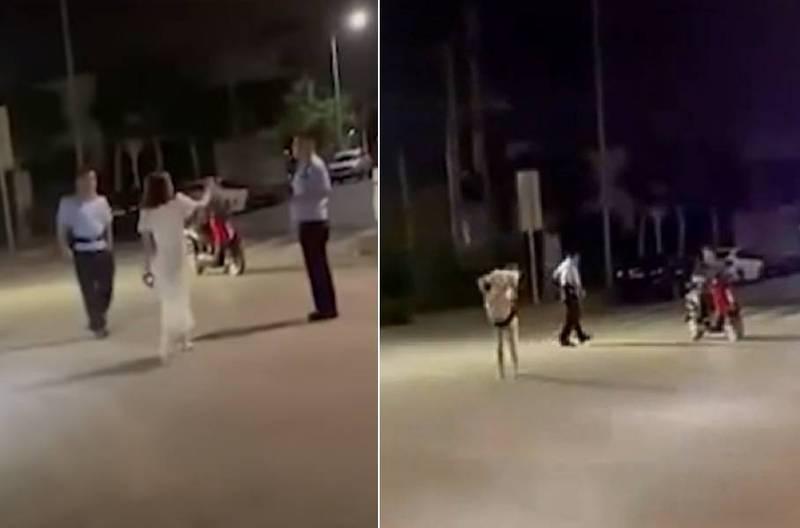 酒醉洋裝女「脫內褲」當武器襲警!當場被側摔放倒痛得大哭