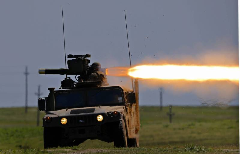 美陸軍機動需求處科長安德魯斯指出,未來考慮以重型近接飛彈系統取代現行服役逾50年的BGM-71拖式反戰車飛彈。(歐新社)