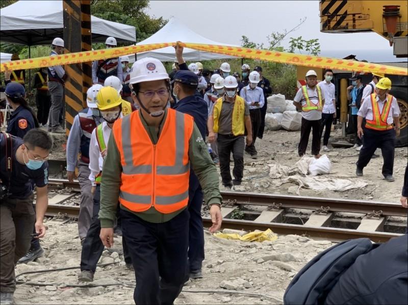 交通部長林佳龍為台鐵太魯閣號事件請辭。(資料照)