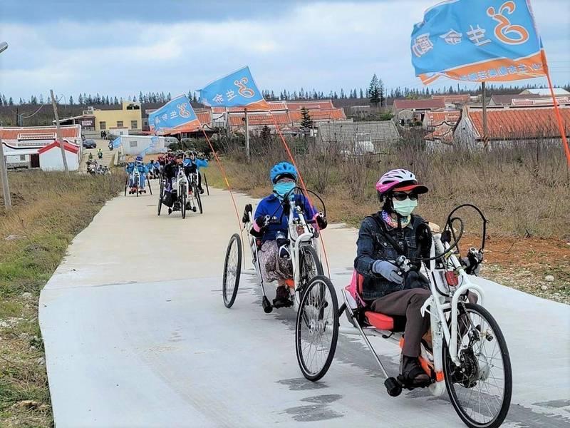 今年為台灣自行車旅遊年,澎湖打造無障礙環境。(澎管處提供)
