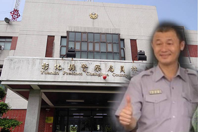 2019年彰化縣警局處理一場聚眾陳抗勤務,時任員林分局長的洪文宏竟在勤前教育時,指示員警只要在陳抗現場遇到推擠,就順勢跌倒,以便將陳抗民眾依現行犯逮捕。(本報合成)