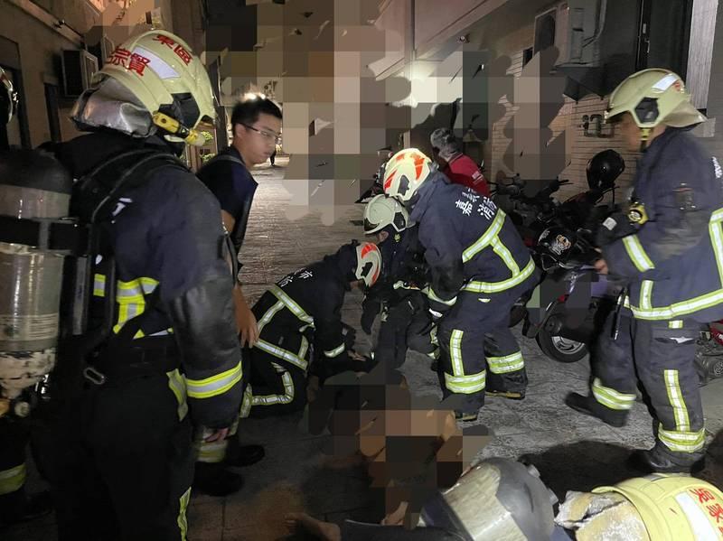 嘉義市一間出租套房昨天凌晨發生一起離奇輕生命案,目前2死1命危。(圖由民眾提供)