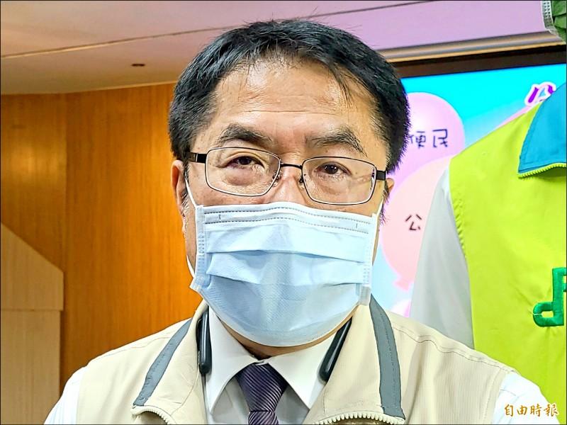 台南市長黃偉哲認為,如果因為台灣前階段防疫工作做得好而輕忽大意,不接種疫苗,未來各國陸續解封,台灣的國家競爭力將受到影響。 (記者劉婉君攝)