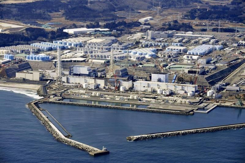 日本今決定將福島核污水排入海,對此,原能會表示遺憾。圖為福島第一核電站。(美聯社)