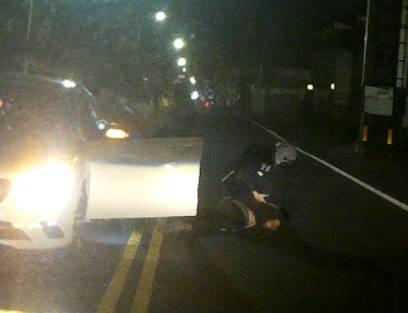 台南林姓男子發生行車糾紛,竟持空氣手槍恐嚇。(民眾提供)