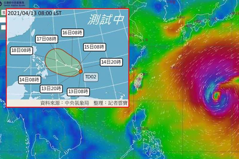 氣象局曝原因:「太平洋高壓位置偏南以及容易受到北方低壓、鋒面的牽引。」(本報合成)