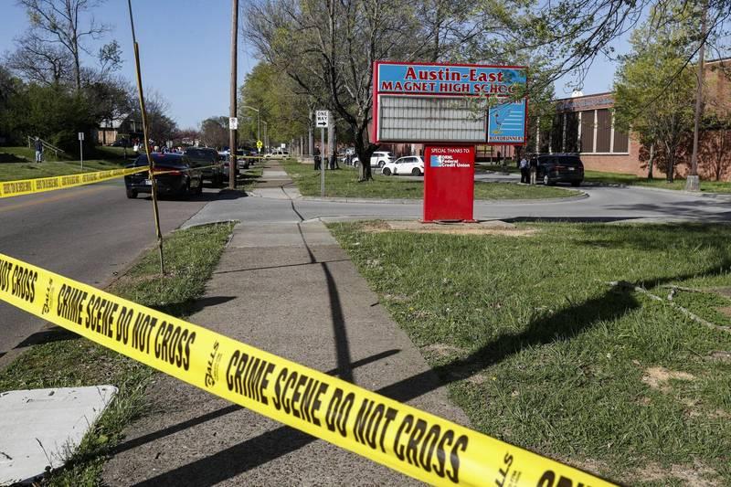 美國田納西州發生校園槍擊案。(美聯社)