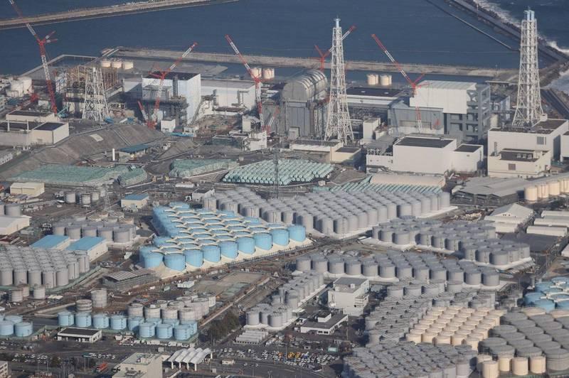 日本宣布2年後福島第一核電廠(見圖)廢水排放入海,總統府發言人張惇涵今日表示,包含外交部、駐日代表處、原能會等相關部門,皆多次向日方表達高度關切、傳達國人憂慮,原能會並已正式向日方表達反對。(法新社)
