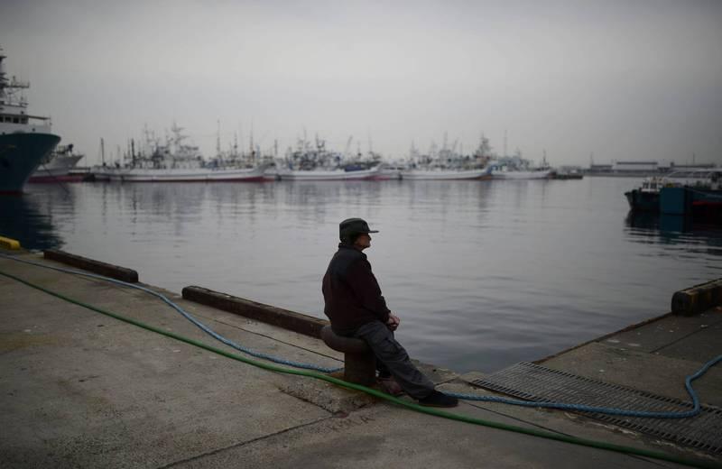 有福島漁民表示,在核災後已經很少人繼承漁業,如果將核廢水排入海,福島漁業恐就此衰亡。福島漁港示意圖。(歐新社)