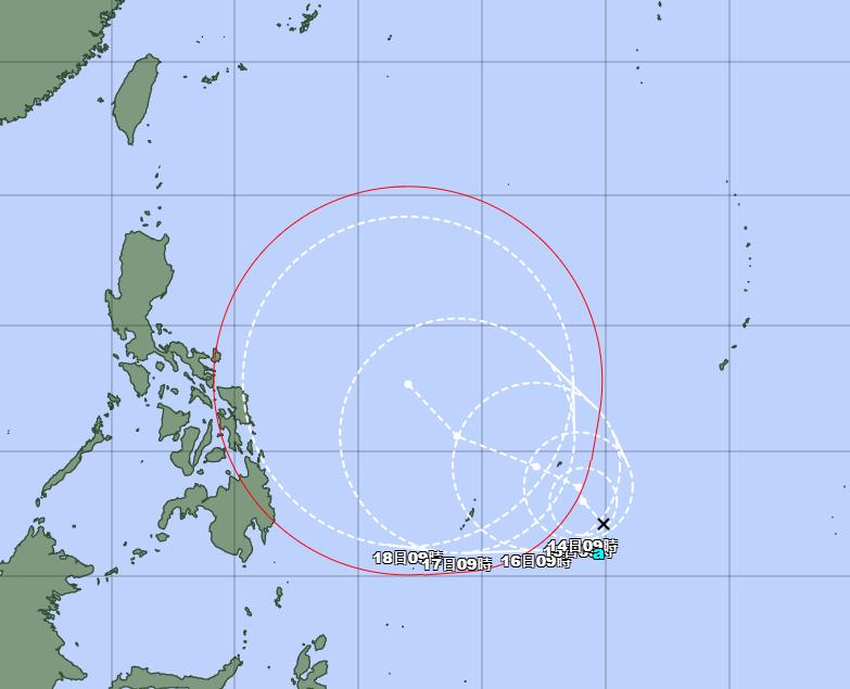 氣象專家指出,按最新預測,颱風不只不會來台,還會破壞台灣附近的鋒面環境,降低降雨機率。(擷取自天氣職人吳聖宇臉書)