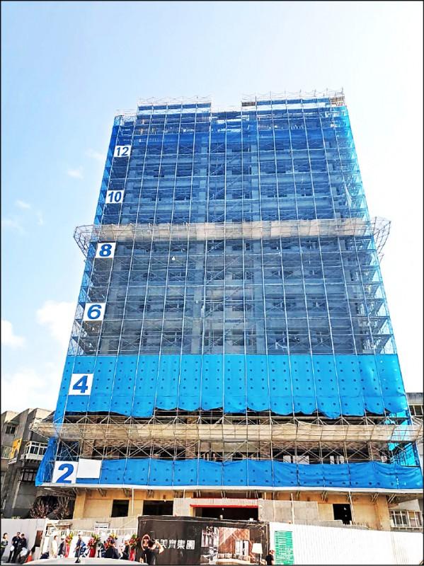 天母12層樓建案(新美齊提供)