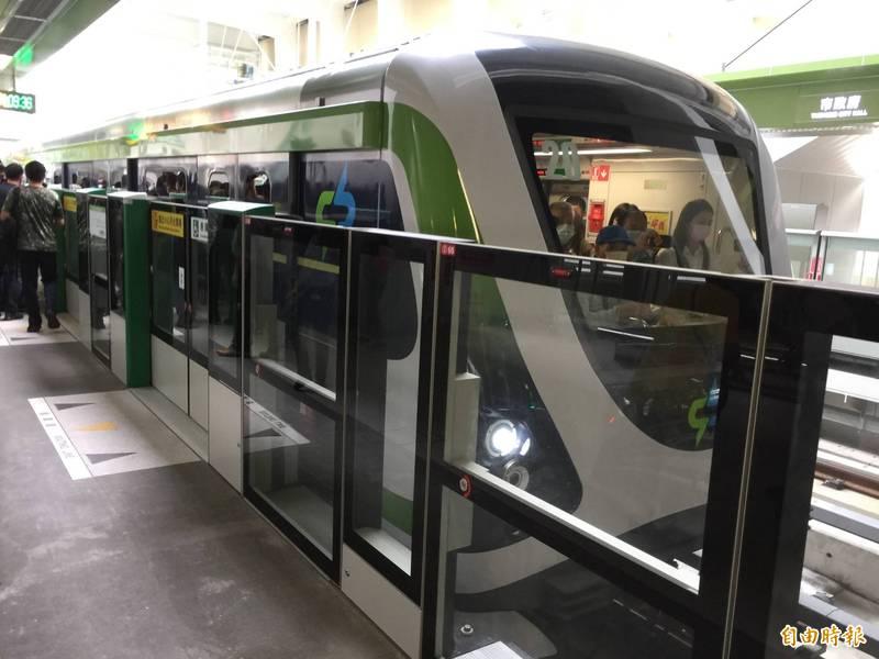 中捷綠線25日將正式通車。(記者蘇孟娟攝)