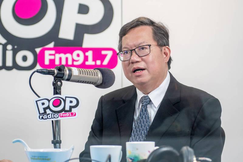 桃園市長鄭文燦受訪時說:交通部長林佳龍做好善後工作並非「完美下庄」,是應該做的。(市府提供)