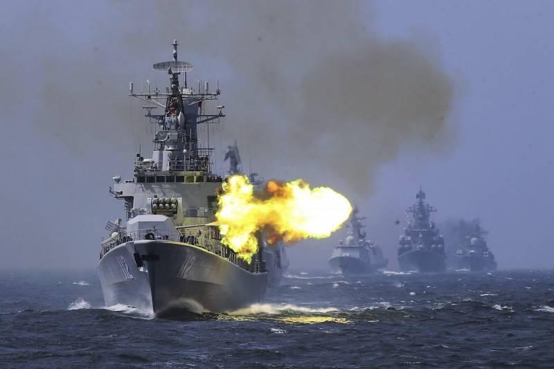 中國解放軍明天起將在廣東汕頭南澎列島附近實彈射擊演訓6天;圖為中共解放軍海軍052型飛彈驅逐艦首艦112哈爾濱號。(美聯社檔案照)