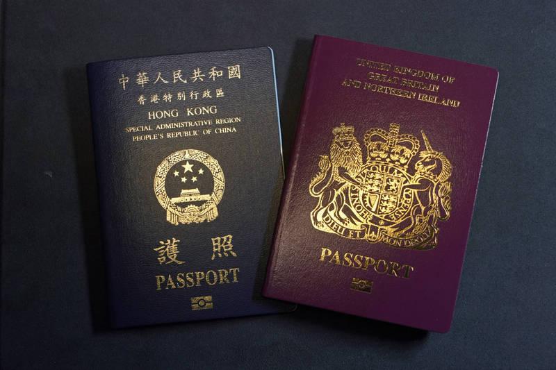 隨著BNO港人移居,英國政府撥款協助就學找房。(美聯社)