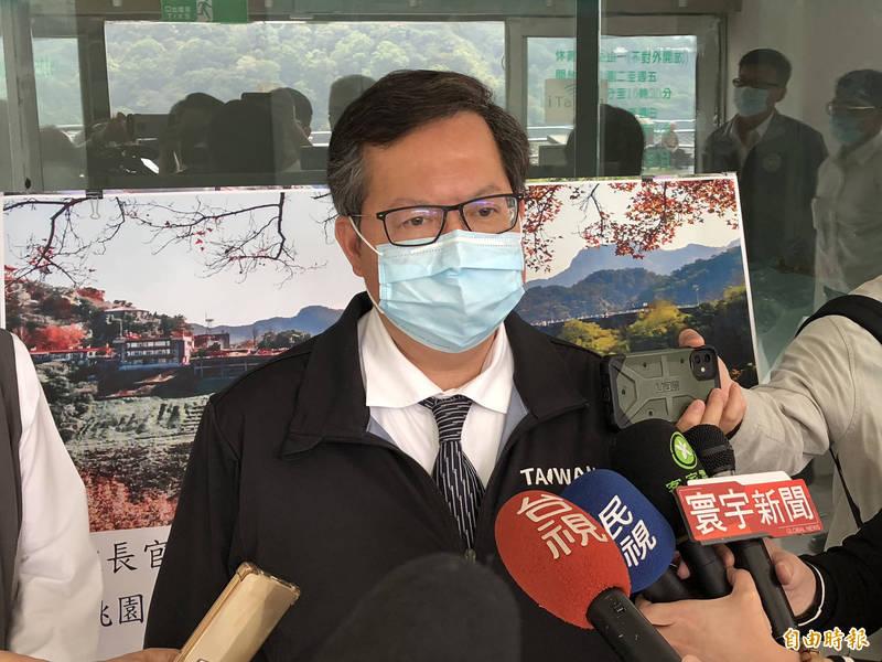 桃園市長鄭文燦強調,如果7個月前沒抗旱,石門水庫就乾了。(資料照)