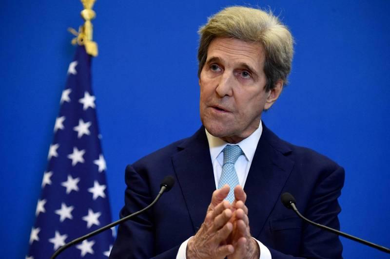美國國務院13日宣布,美國氣候變遷特使、前國務卿凱瑞(John Kerry)將在14至17日前往中國和南韓訪問。(法新社資料照)