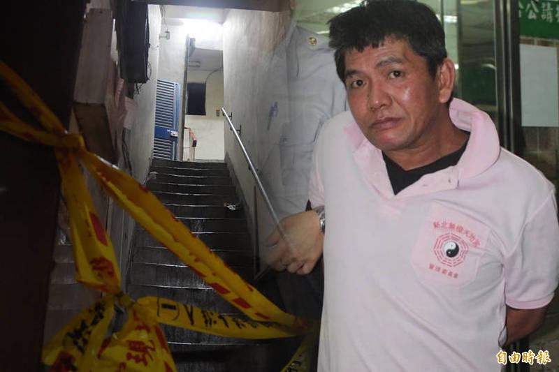 緬甸華僑李國輝涉嫌在4年前凌晨於新北市中和區出租公寓縱火,釀成9死慘劇。圖左為案發現場。(本報資料照、合成)