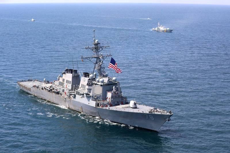 俄國副外長雷雅布可夫警告美國遠離俄羅斯海域,否則將有「意外」風險。圖為美軍波特號驅逐艦於去年7月航經黑海。(路透)