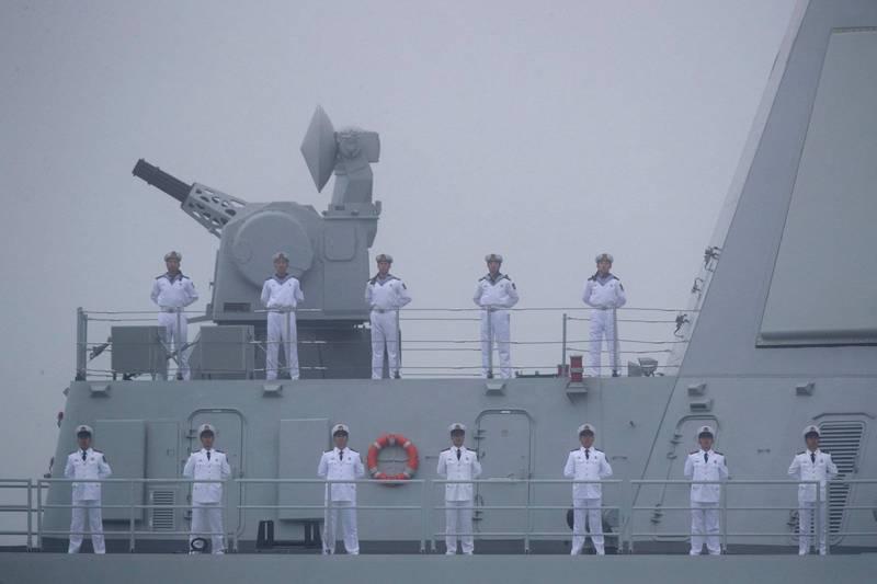 呂禮詩分析共軍軍演範圍及時間,認為共軍夜間防空戰力不足。圖為中國解放軍海軍。(法新社)