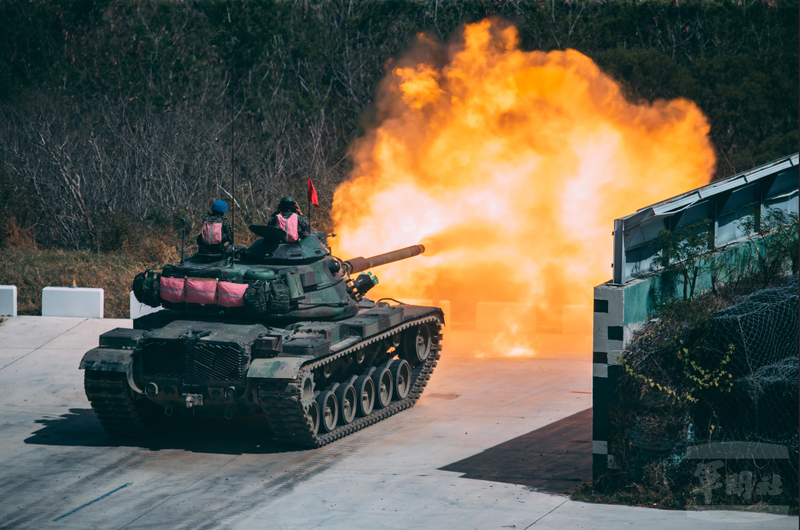 M60A3戰車射擊。(圖:軍聞社提供)