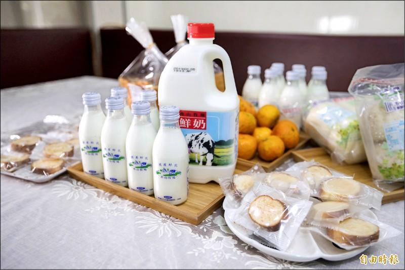 新竹市香山牧場的鮮奶也是美食補給站的名單之一。(記者洪美秀攝)