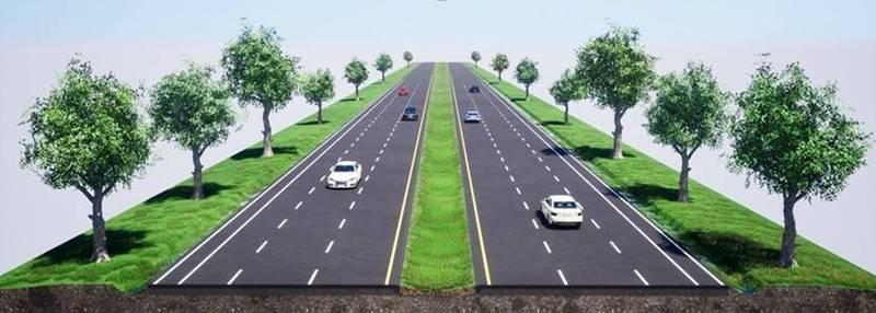 台9線瑞豐永安段道路拓寬工程完成示意圖。(圖:公路總局提供)