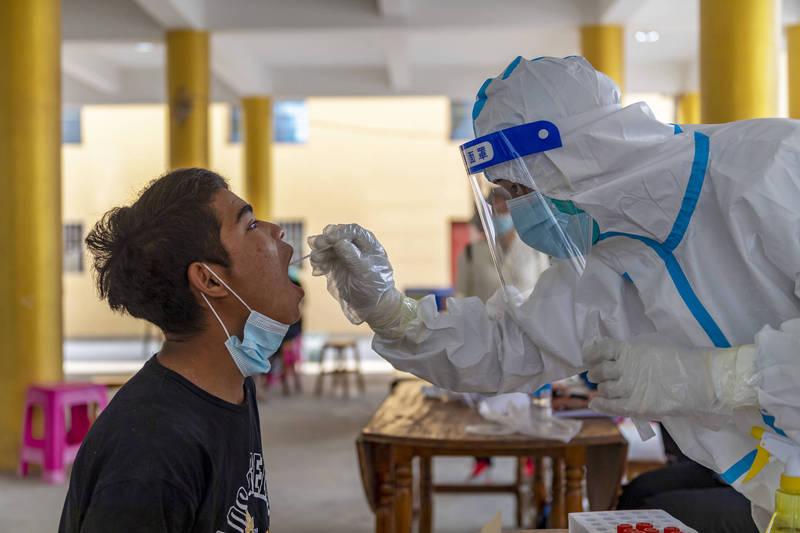 雲南再現本土病例,中國新增11確診、31無症狀。(美聯社)