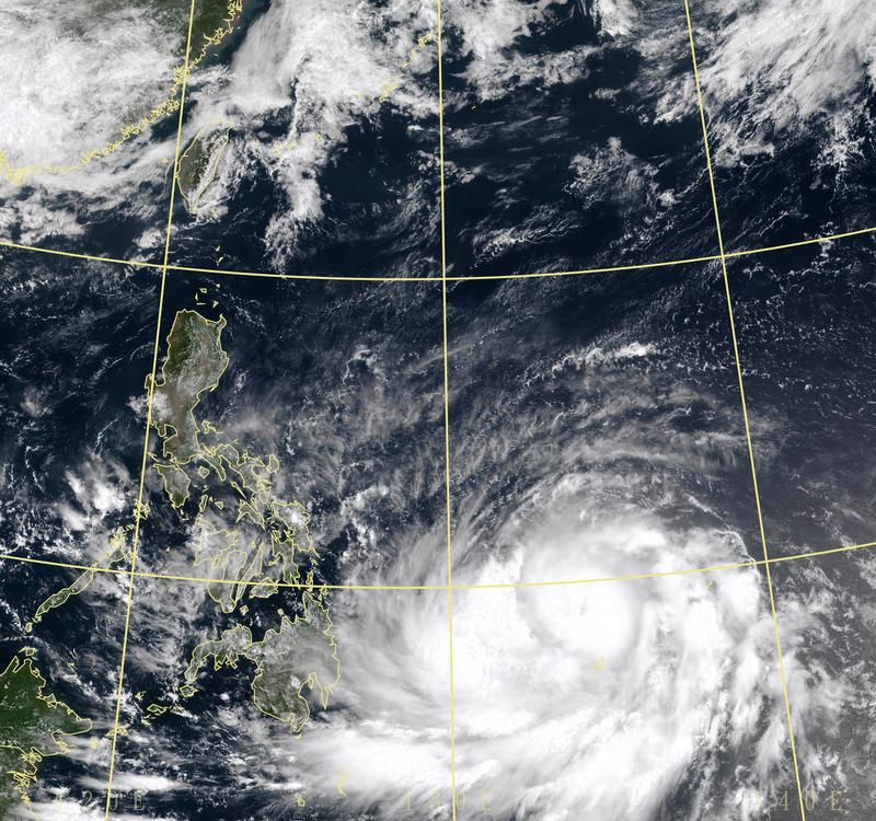 今年第2號颱風舒力基持續發展,上午正式增強為中度颱風。(擷取自中央氣象局)