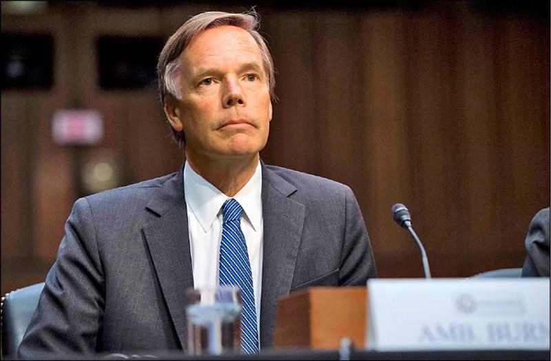 傳美國資深外交官伯恩斯將獲拜登欽點出任美國駐中國大使。(法新社檔案照)