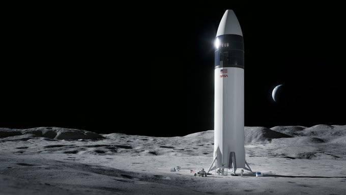 SpaceX將為NASA登月任務打造太空船。(圖片取自SpaceX)