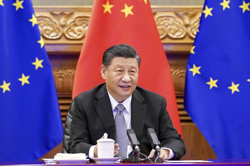 中國宣布制裁多名歐洲議會成員。圖為中國國家主席習近平。(美聯社資料照)