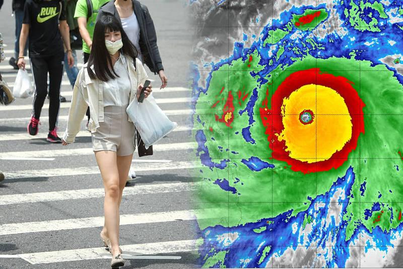 氣象局長鄭明典在臉書表示,舒力基已經浮現「很強颱風的特徵」。(本報合成)