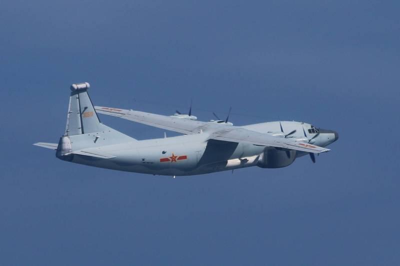 中共軍機再次襲擾西南空域。示意圖。(國防部提供)
