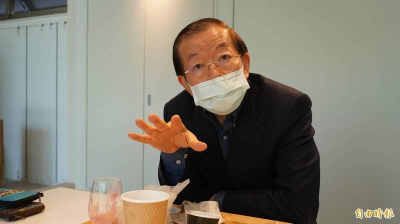 美日聯合聲明提及台灣一事,中國跳腳嗆聲「內政干預」,駐日代表謝長廷今天受訪時表示,美國不會接受這一套。(記者林翠儀攝)