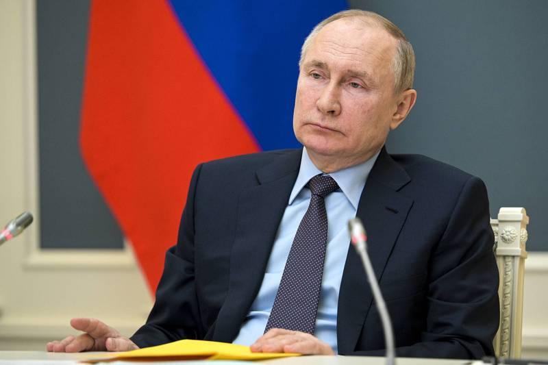 烏克蘭東部情勢緊張,烏克蘭及俄羅斯各自驅逐對方的一名外交官,同時都限期週一起的72小時內需離境。圖為俄羅斯總統普廷。(美聯社)