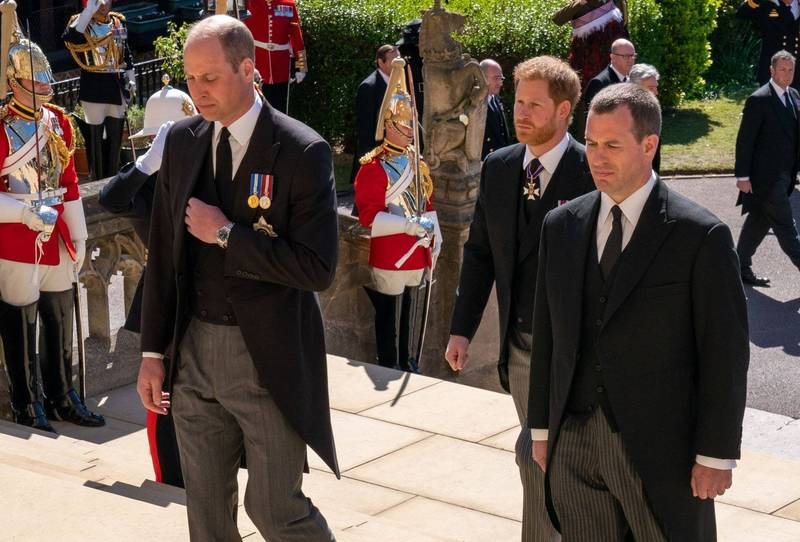 William and Harry met at Prince Philip's funeral after a one-year absence.  (AFP)
