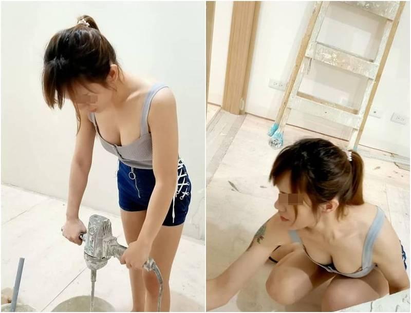 一名網友在爆廢1公社PO照,照片中穿著清涼的正妹引發網友熱議。(圖擷取自爆廢1公社)
