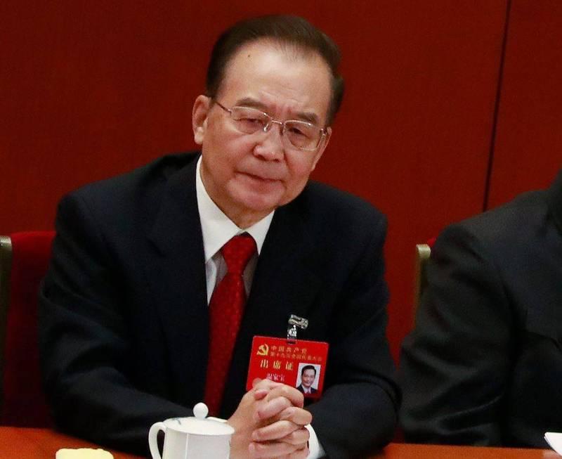 前中國國務院總理溫家寶。(歐新社)