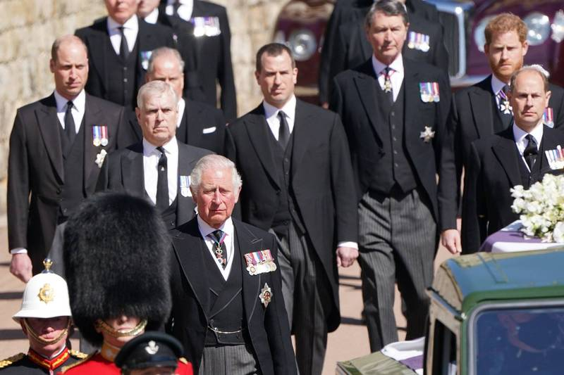 William and Harry are located behind the royal family member's spirit shifting team.  (Associated Press)