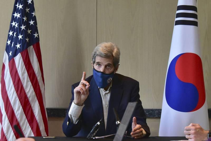 凱瑞表示,他堅信日方與國際原子能機構會保持緊密合作。(美聯社)