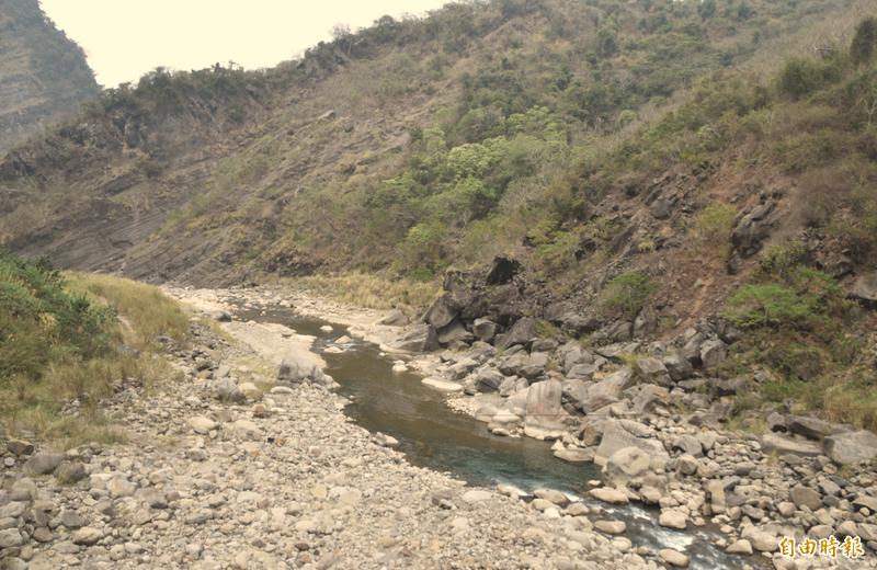 那瑪夏山區累積雨量僅7毫米,為日益嚴竣的水情帶來一線希望。(資料照)