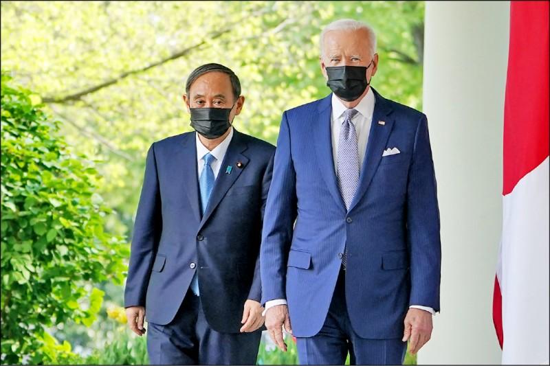 日本媒體報導,拜登政府的對中戰略,最重視和盟邦合作;針對台灣海峽議題,華府這次高明地取得「逼日方進一步與美方同調的依據」。(法新社)