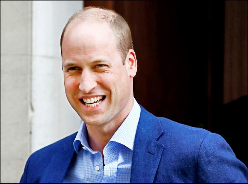 威廉王子獲選為「全球最性感禿頭男」。(路透)